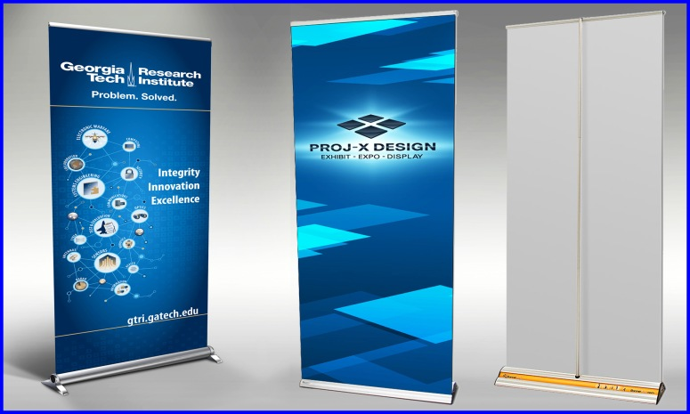 Roll Up Banner or Stand for rent - sai media ads